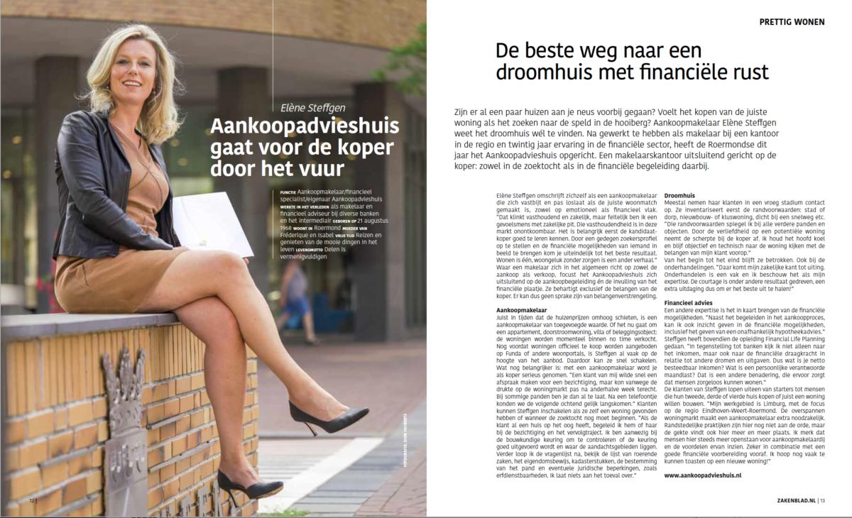 Aankoopadvieshuis in zakenblad Midden-Limburg
